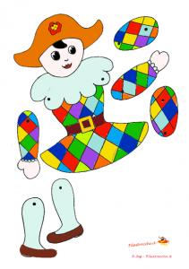Coloriage Pantin Arlequin.Pantin Arlequin Carnaval