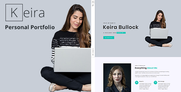 Keira – Personal Portfolio Template is a highly creative
