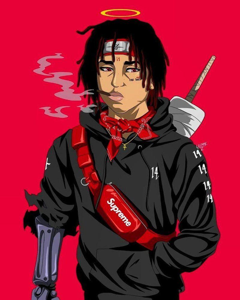 Trippie Redd Wallpapers Top Free Trippie Redd Backgrounds Wallpaperaccess Trippie Redd Cartoon Wallpaper Anime Rapper