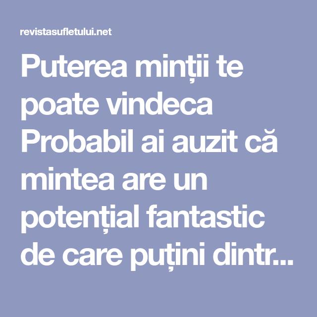 vindeca varicele cu puterea gândului)