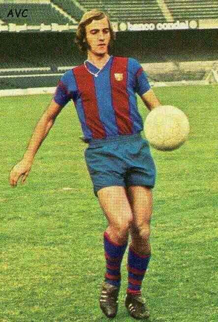 Johan Neeskens of Barcelona & Holland in 1976.