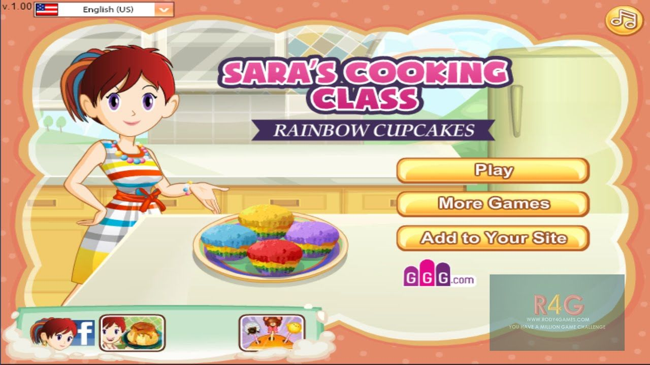 Sara Cooking Games Rainbow Muffins Cooking Gams Games For Girls
