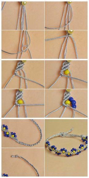 #Beebeecraft #Stringmaterialien #Nylonthread #Geflochtene Perlen #Armband