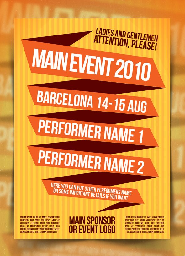 Colored Event Poster Template by ~IndieGround on deviantART ...