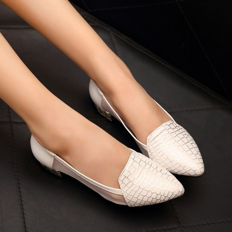 8fb6a9f82cf Exotic fancy low heels for the stylish woman - 3 cm heel - Made from PU -  Available in 2 colors