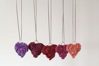 Ravelry: Be Mine Heart Pendant pattern by Kristin Omdahl