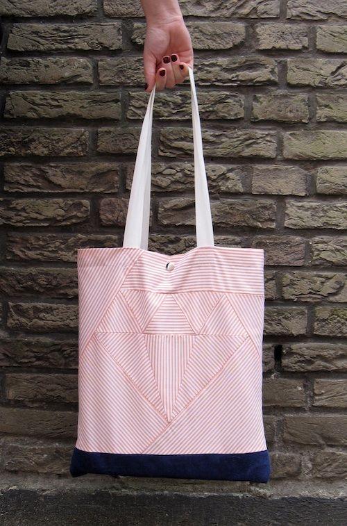 Diamond Patchwork Bag tutorial by Misusu #sew #diy #tute | Proyectos ...