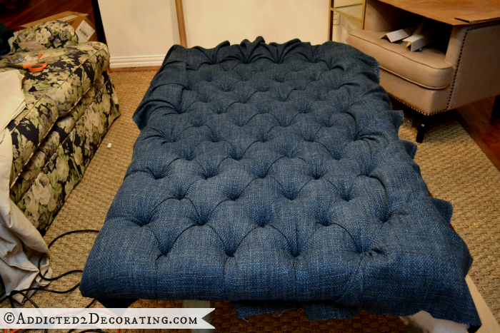 DIY Ottoman Coffee Table Part 2 – Tufted Top Details | Deberes ...
