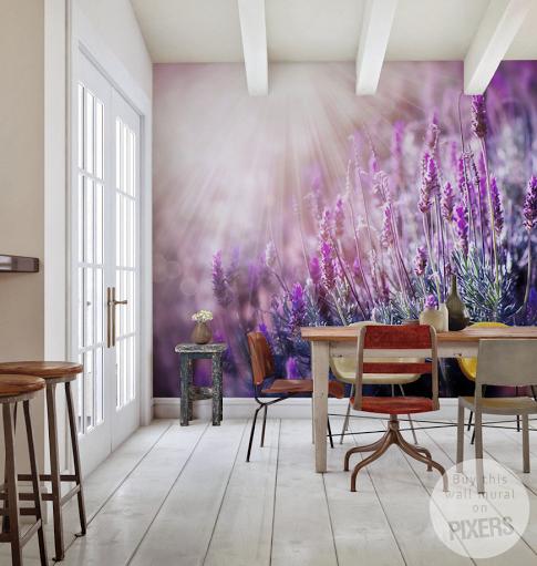 Murals For Walls lavender wall muralpixers <3 www.pixersize | mural walls
