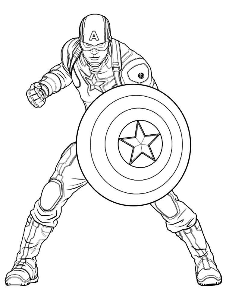 Captain America Coloriage