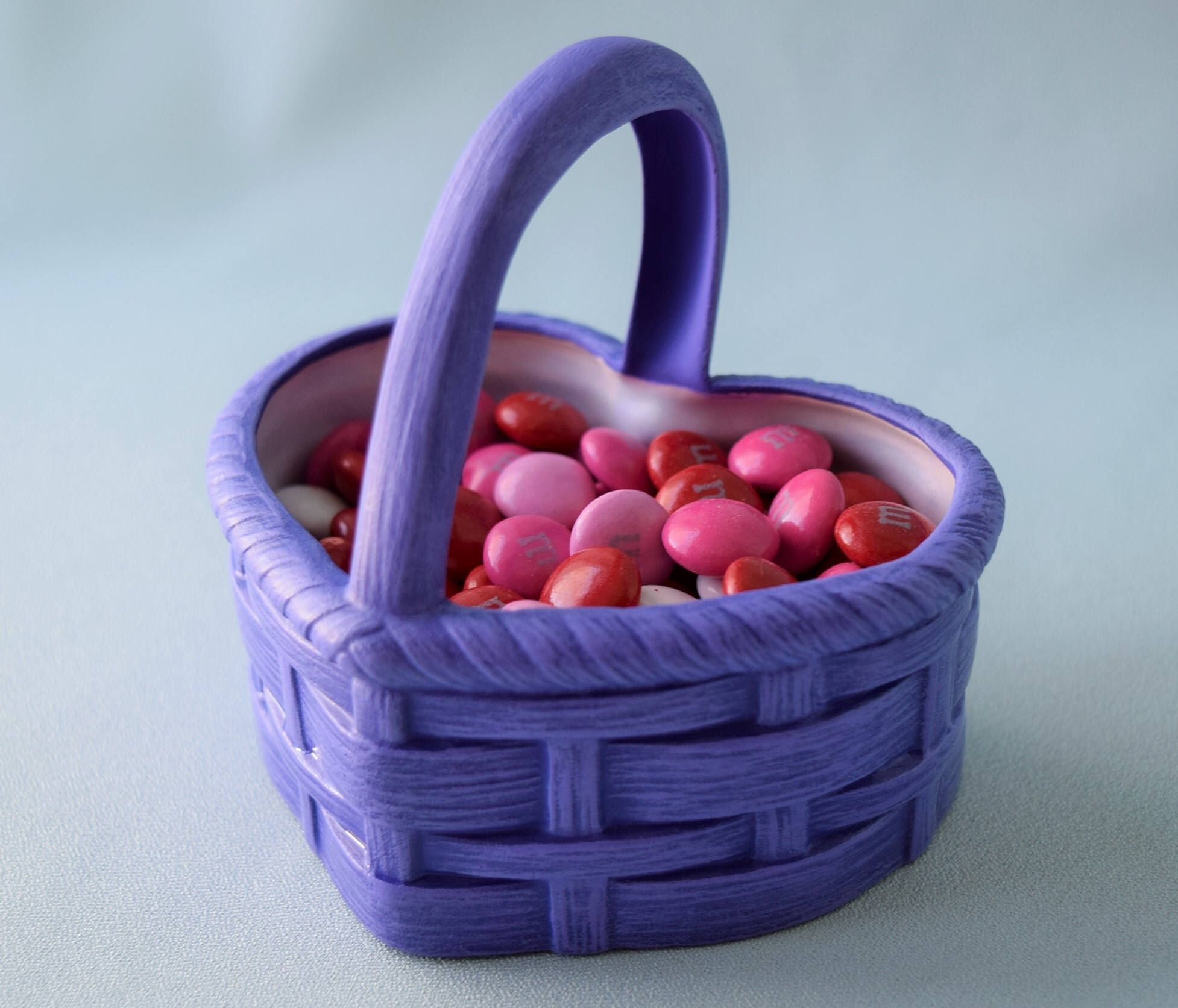 Heart basket candy dish ceramic basket valentines gift easter heart basket candy dish ceramic basket valentines gift easter gift gift for her spring decor purple heart dish ready to ship by teres negle Choice Image
