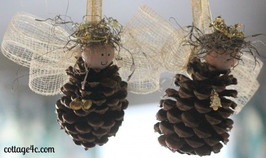 Pinecones angels angel ornaments Pinterest Girl scout leader