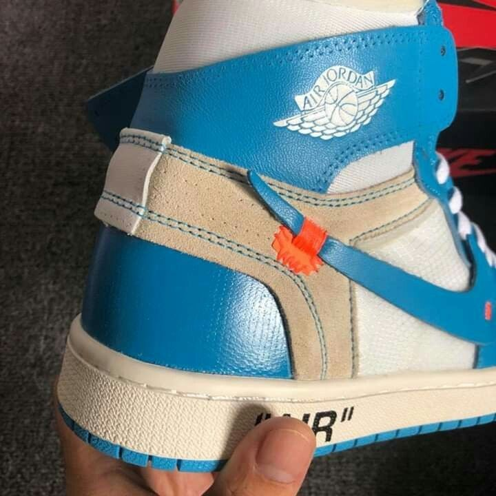 the latest 70c04 7f3c4 Air jordan 1 unc retro high off white  fashion  clothing  shoes  accessories   mensshoes  athleticshoes (ebay link)