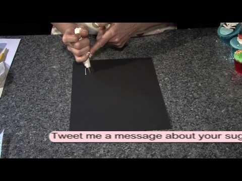 How to write on cakes using royal icing. | Cake writing ...