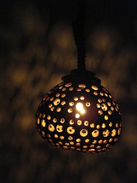 Single coconut shell hanging light lamp garden home decorative single coconut shell hanging lamp garden home decorative art night light lamp aloadofball Image collections