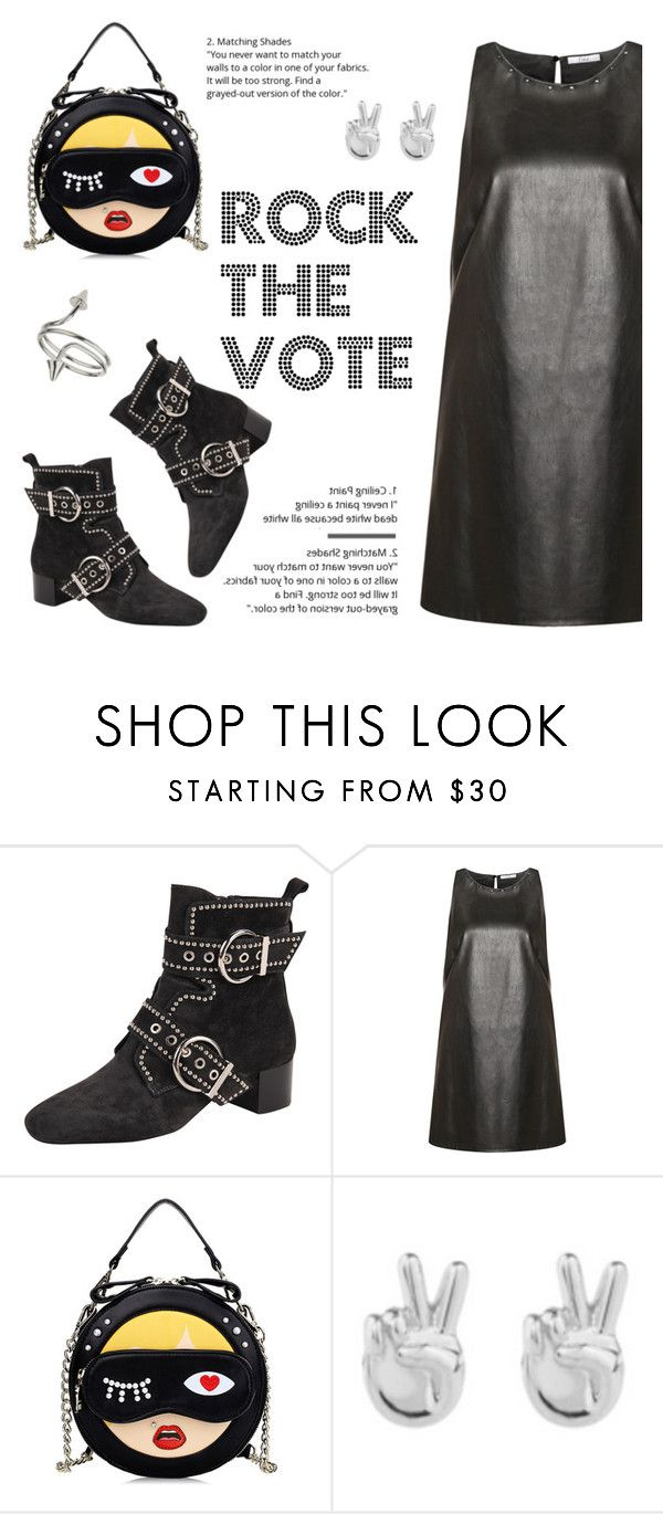 """""""Get Out There and Rock the Vote!!!"""" by outfitsfortravel ❤ liked on Polyvore featuring Jeffrey Campbell, Devoted, Rock 'N Rose, Miss Selfridge and contemporary"""