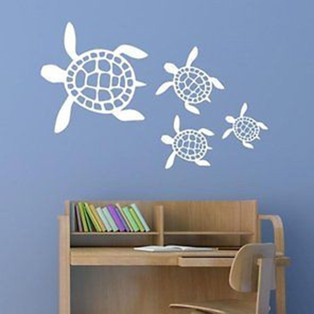 Sea Turtle Scene Vinyl Wall Decal Sticker