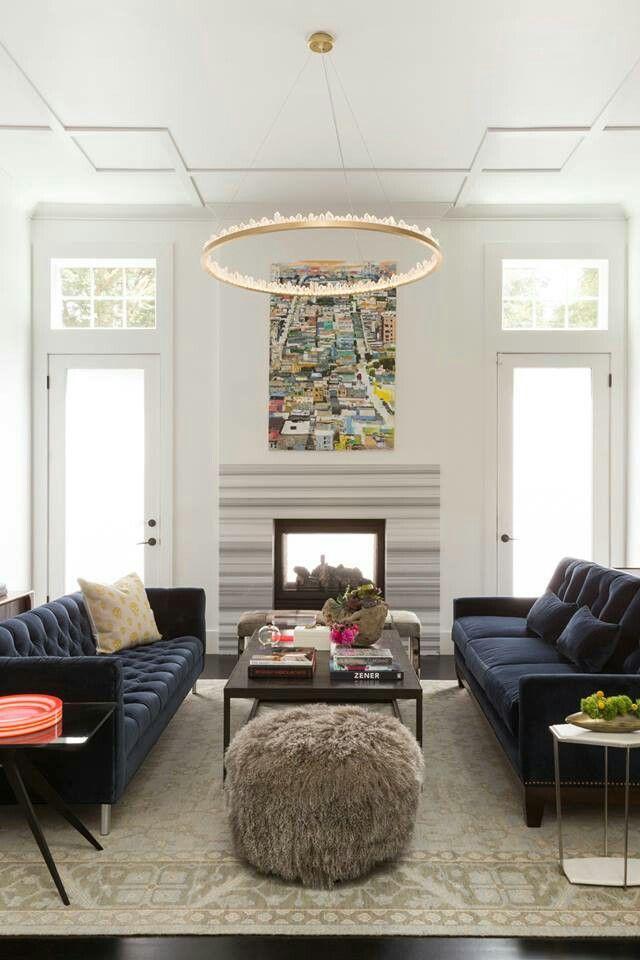 Navy sofas | inspiring decor | Pinterest | Navy sofa, Living rooms ...