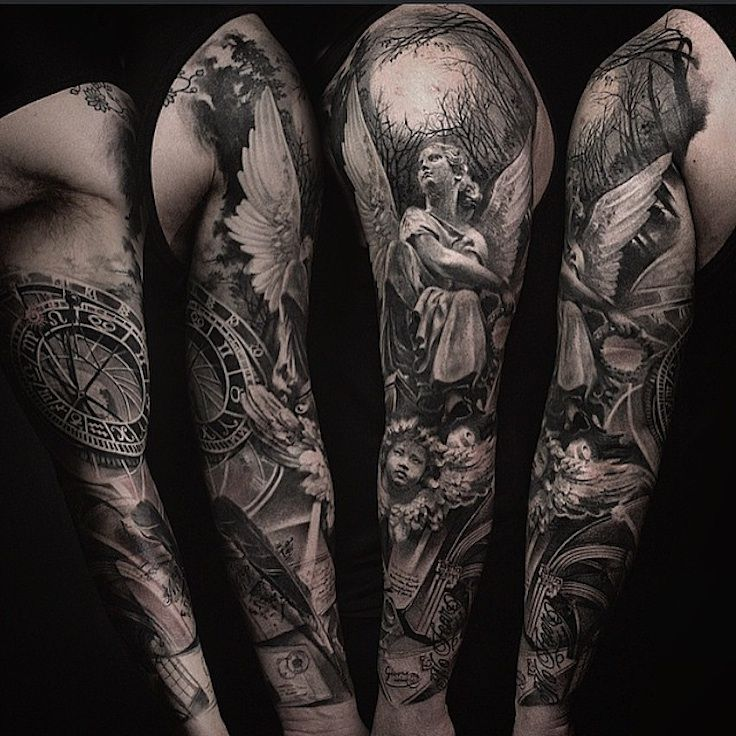 One of the best black and grey tattoo artists Ive ever seen, support ...