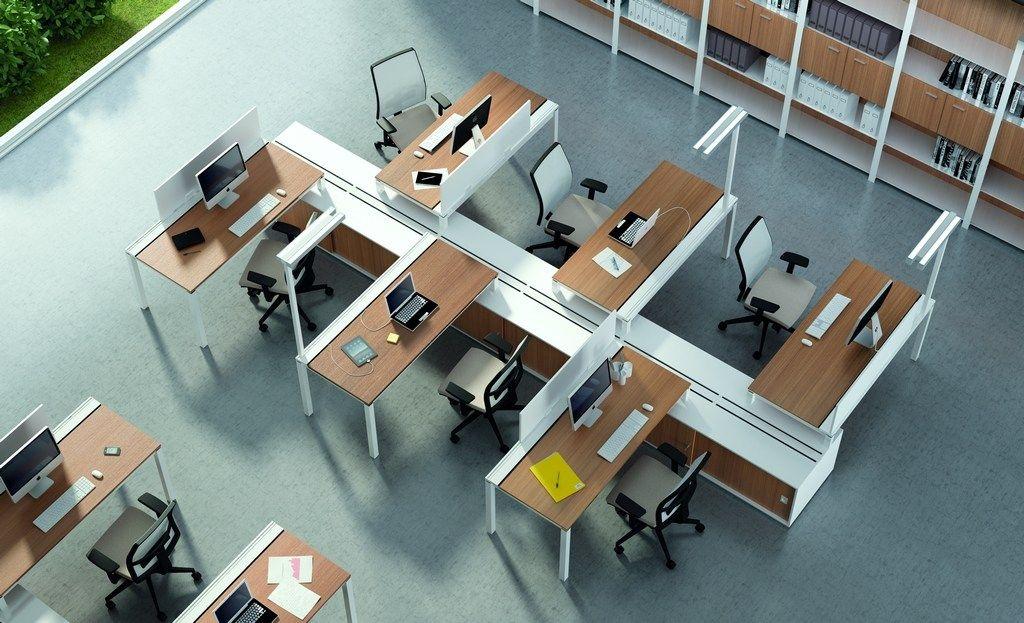 Mobili Per Ufficio Quadrifoglio : X4 workstation desk by quadrifoglio sistemi darredo design