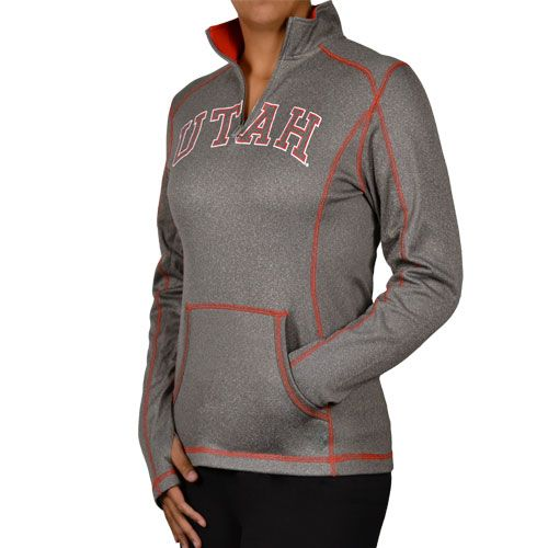 Gray 1/4 Zip Active Jacket, super cute for this spring #utahutes