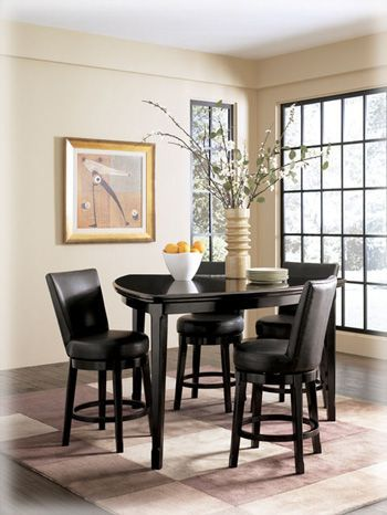 Bar Dining Room Table Ashley Emory Triangle Pub Table Dining Set  Love This Table