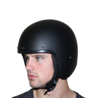 Dull Black 100/% DOT Approved Daytona Helmets Motorcycle Open Face Helmet Cruiser