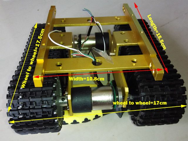 Tractor Chassis Design : Arduino tank caterpillar tractor chassis crawler
