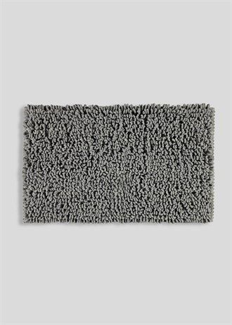 Ultra Absorbent Micro Loop Bath Mat 80cm X 50cm Grey