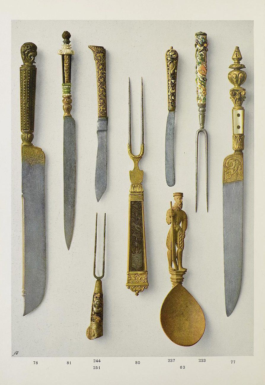 Cutlery 15th 16th Century Dorotheum Auction Catalogue 1912 Via