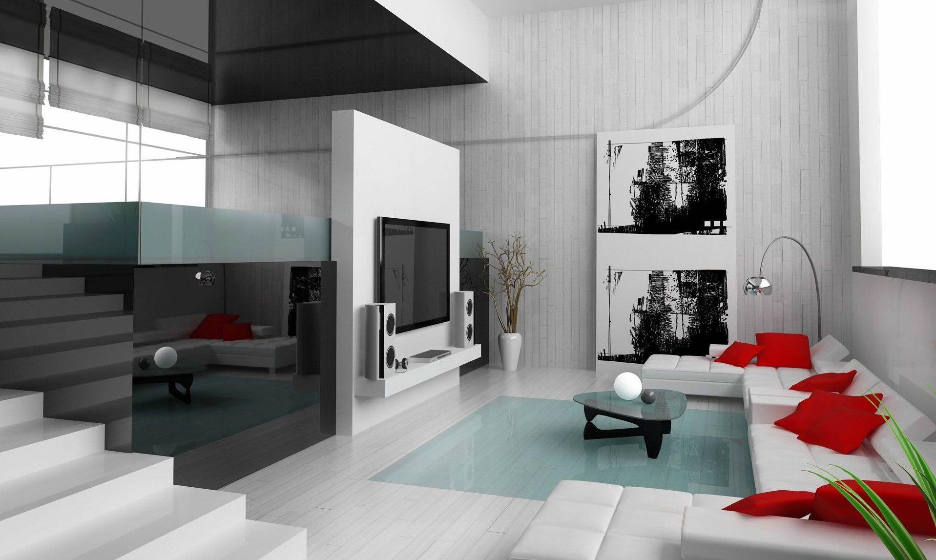 Zeitgenossische Wohnzimmer Mit Tv Wand Ideen Mobel Die Dekoration