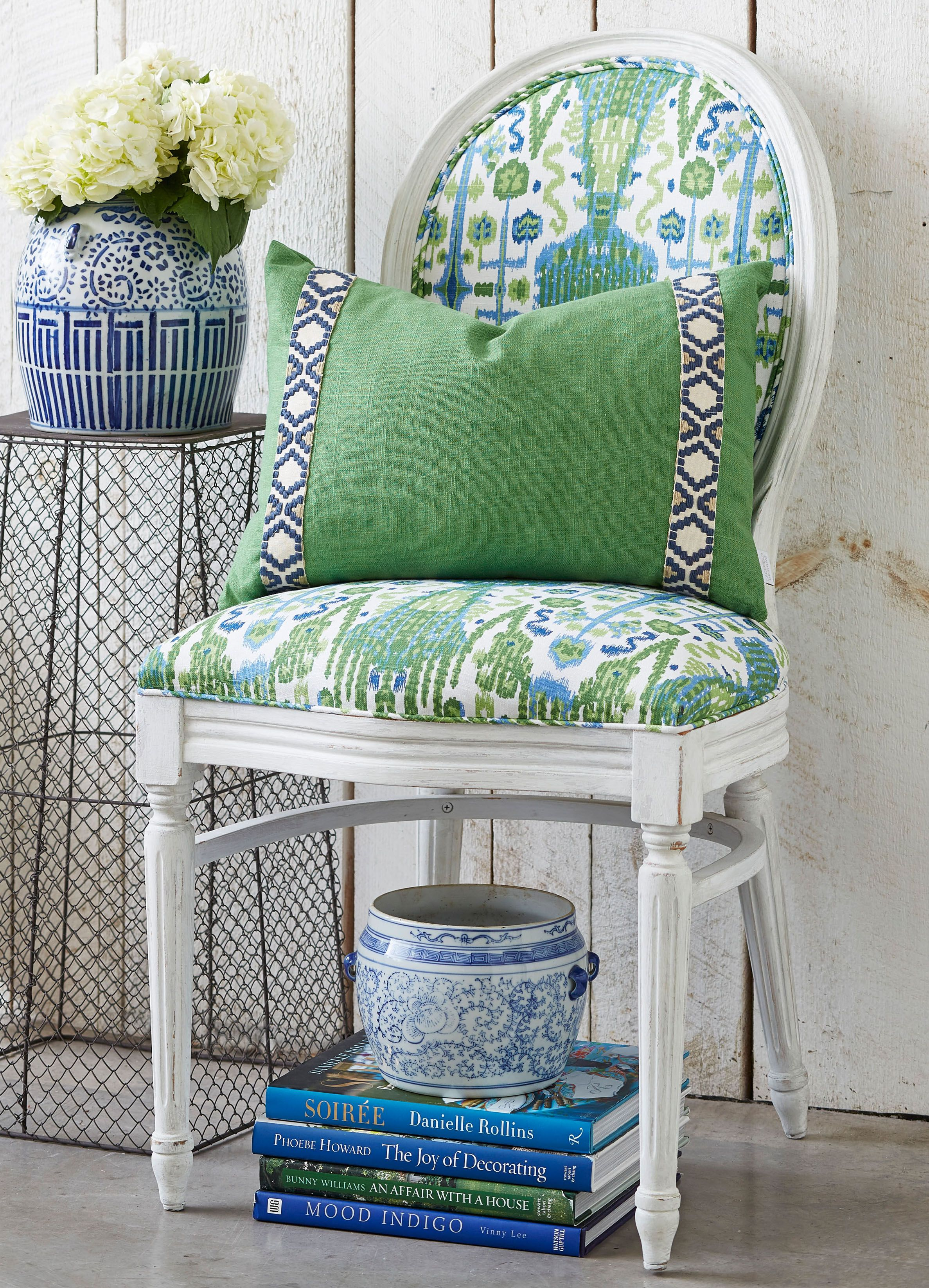 Lacefield Bombay Kelly Upholstered Chair And Kelly Linen
