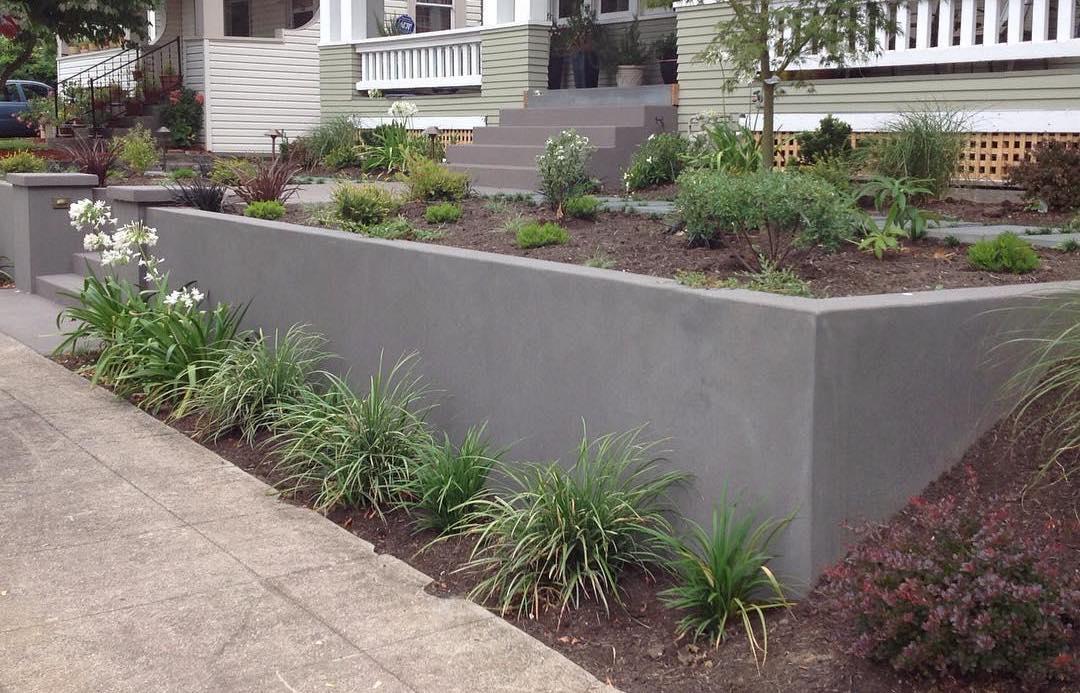 3 Unique Concrete Ideas For Your Front Yard Concrete Front Ideas Unique Yard In 2020 Landscaping Retaining Walls Backyard Retaining Walls Concrete Retaining Walls