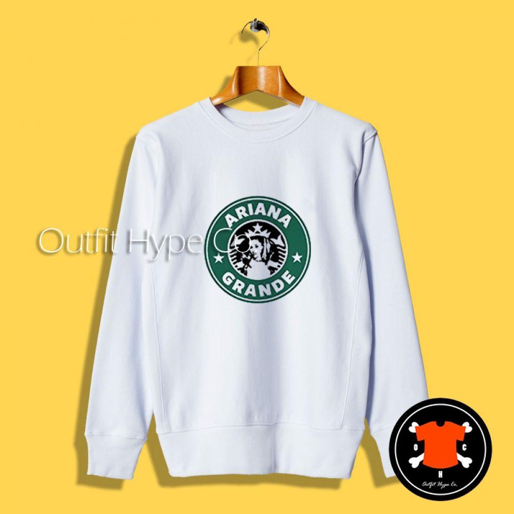 Get Ariana Grande Starbucks Logo Sweatshirt Outfithype Com Sweatshirts Starbucks Logo Ariana [ 1000 x 1000 Pixel ]