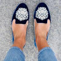 Photo of shoes, tumblr, velvet, velvet shoes, slide shoes, smoking slippers, scarf, laure…