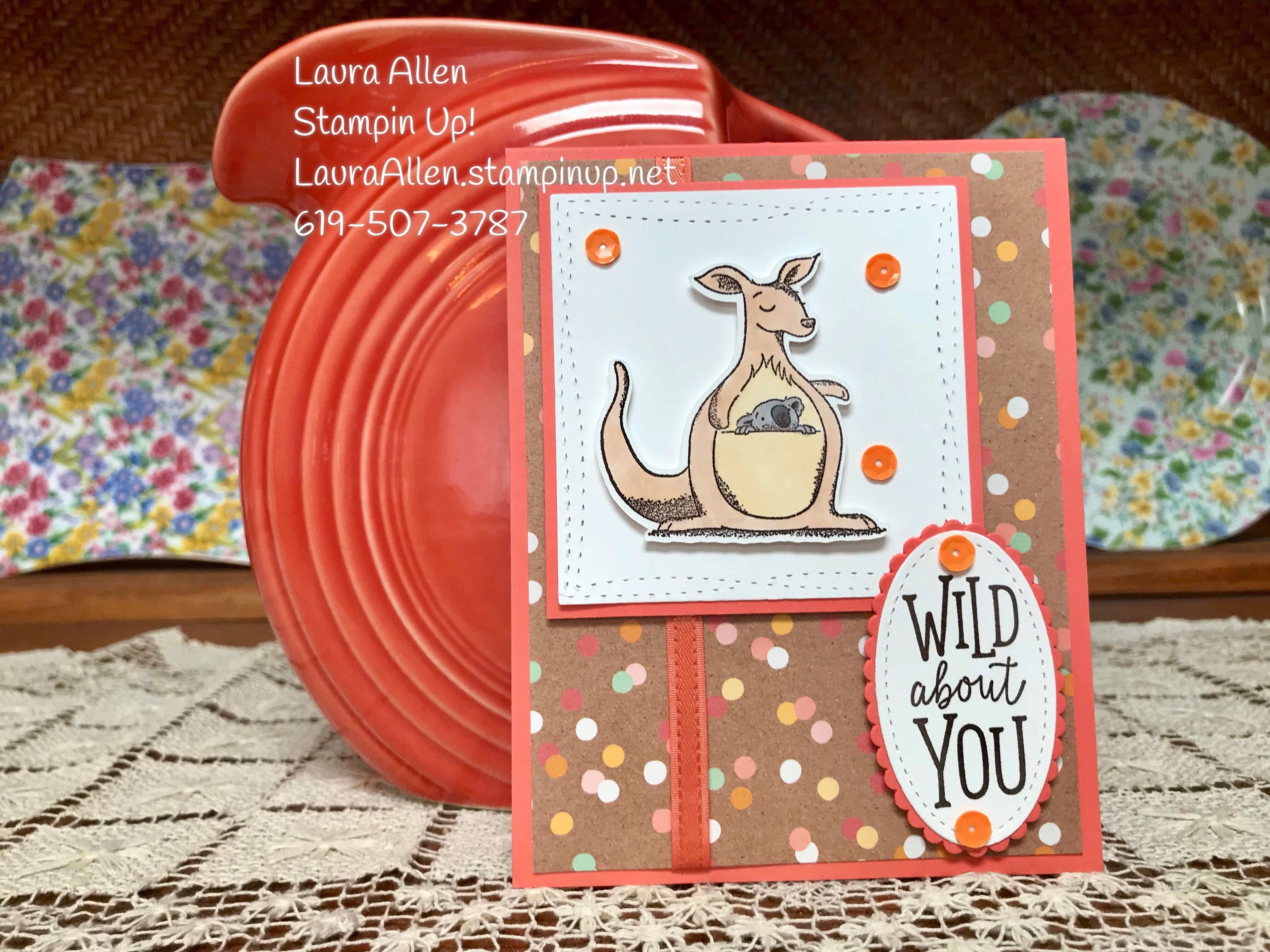 I Used The New Stampin Up Stamp Set Animal Outing