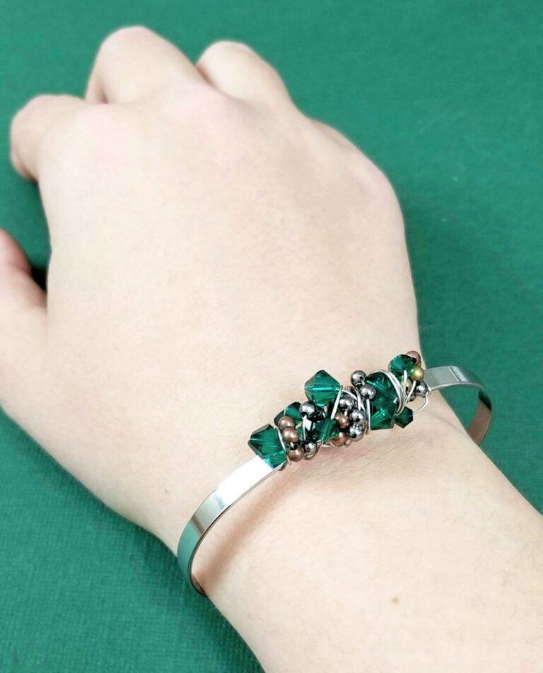 Photo of Wire Wrapped Bangle Bracelet Tutorial – das atemberaubende Sloppy Wrap