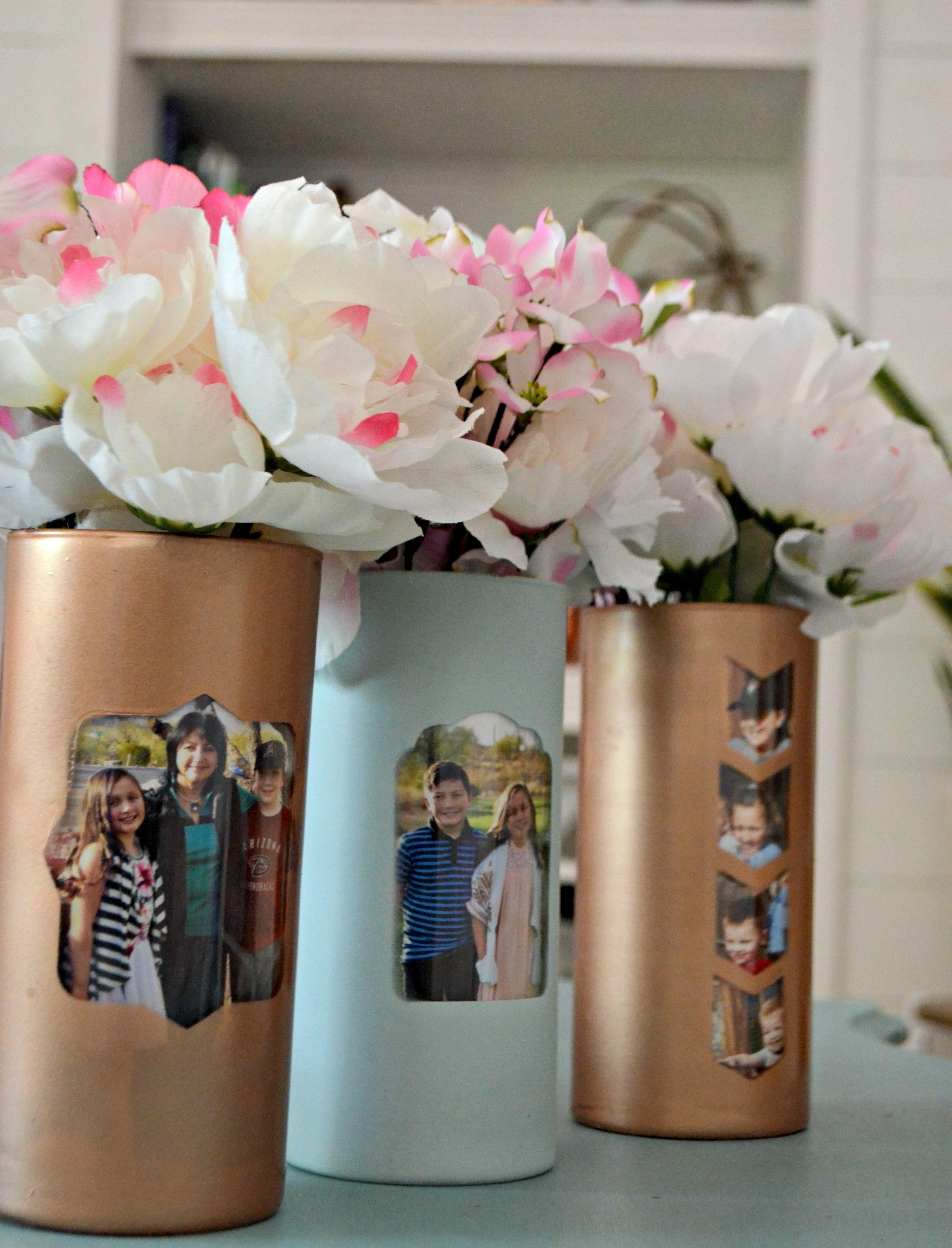 Make These Cute Dollar Tree Mother S Day Photo Vases Craft Ideas