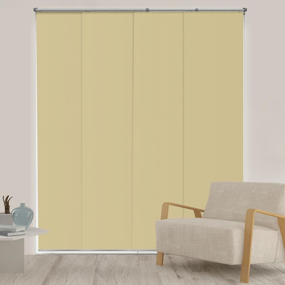 Chicology Panel Track Blinds Mountain Almond Cordless Blackout