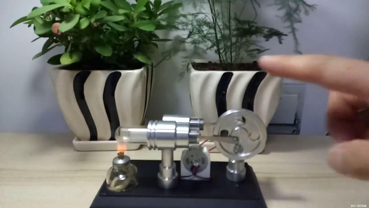 Doublecylinder diy stirling engine external combustion