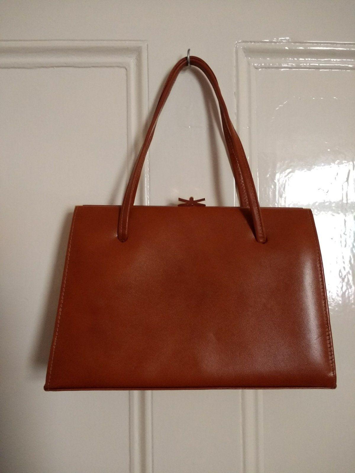 Vintage Ackery Of London Tan Leather Handbag