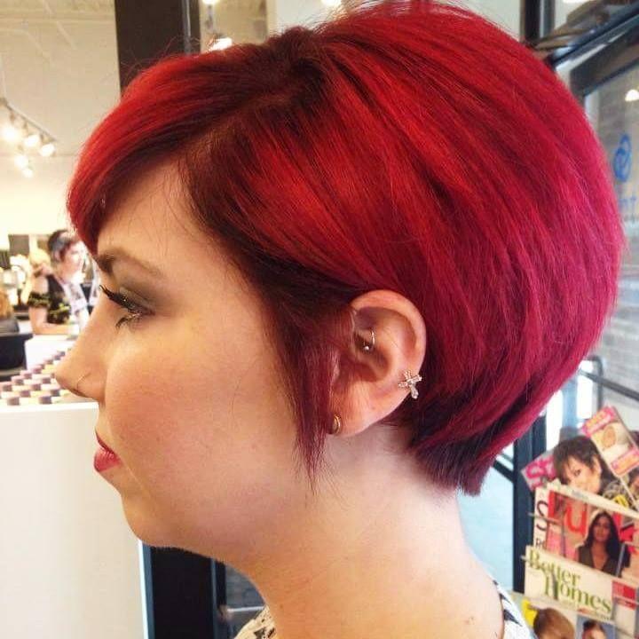 Gorgeous Cherry Red By Mindi Hair Haircut Hairstyle Haircolor Redhairdontcare Hairinspiration Pravana Rainbo Hair Styles Short Hair Styles Hair Beauty