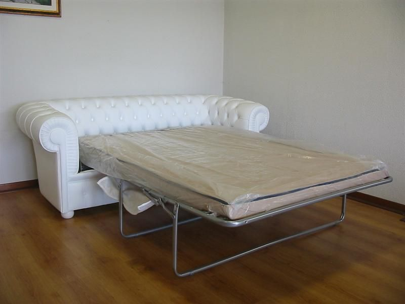 Chesterfield #White #Sofa-Bed | Vama Sofas | Chesterfield ...