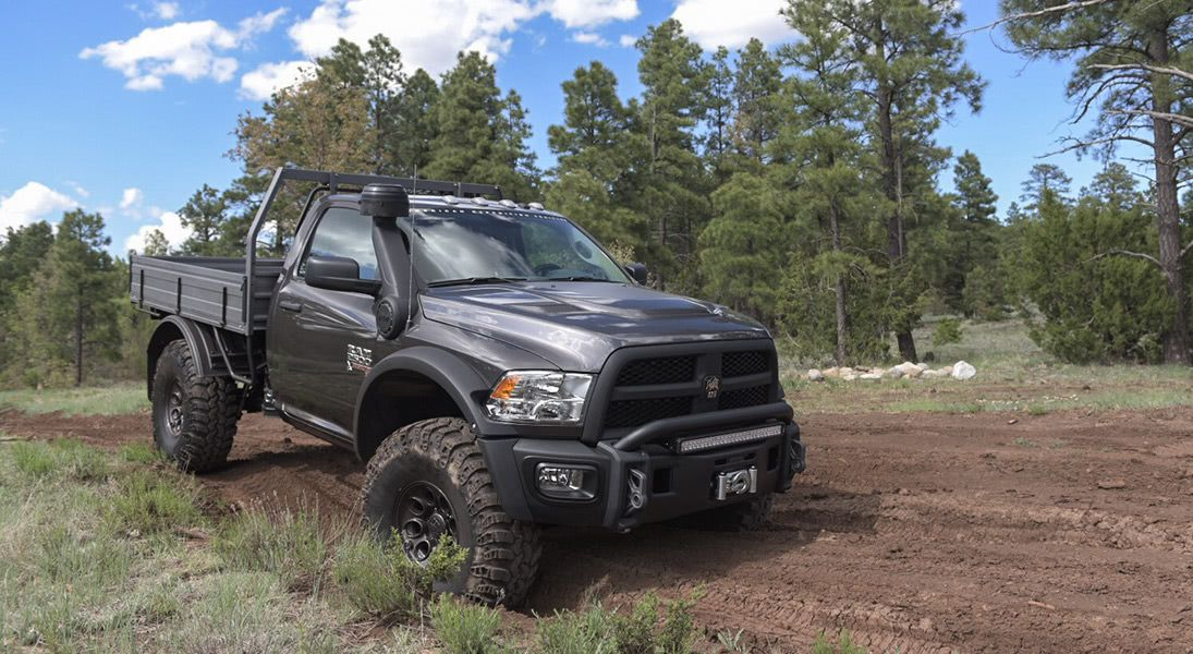 AEV Prospector XL Tray Bed Edition on the trail Trucks