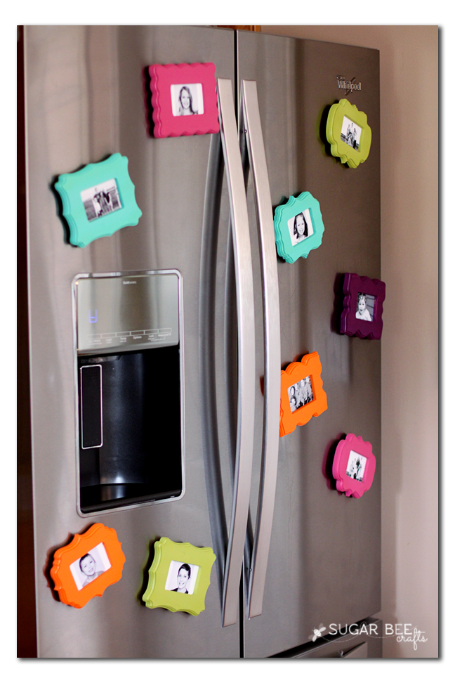 Mini Frame Fridge Magnets Diy Decor Pinterest Diy Diy Magnets