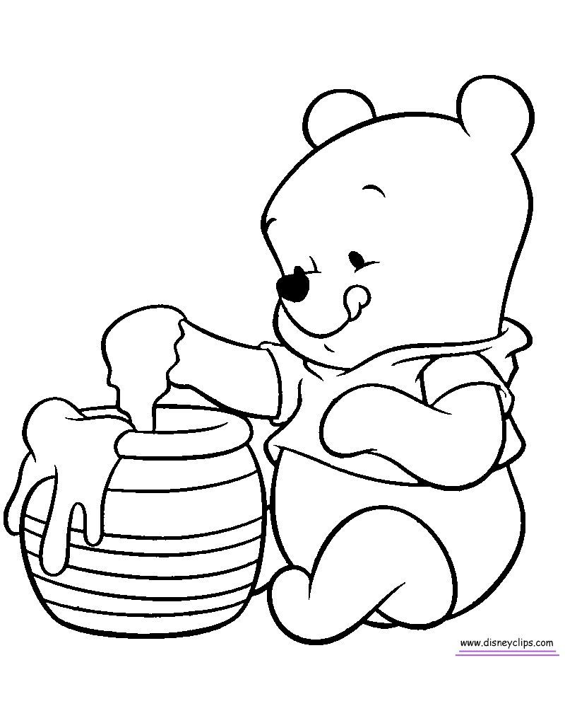 Cute Winnie The Pooh Coloring Pages Pdf Download Free Coloring Sheets Winnie The Pooh Drawing Bear Coloring Pages Disney Coloring Pages