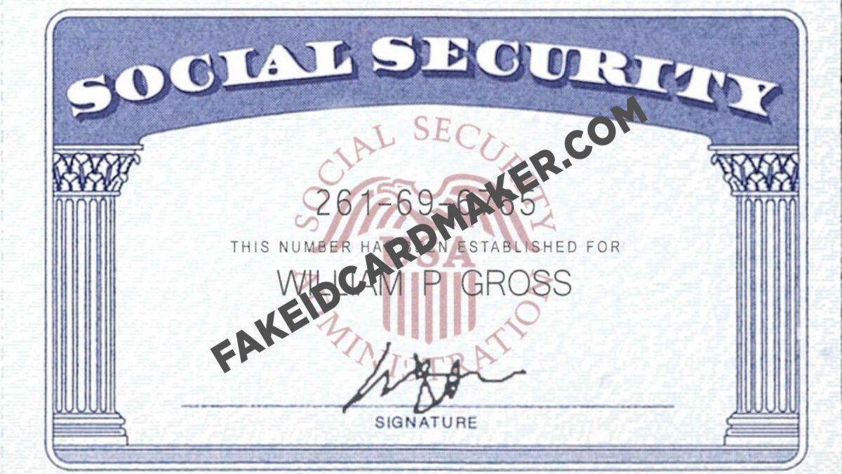 Usa Social Security Card Fake Id Virtual Fake Id Card Maker With Regard To Social Security Card Te Social Security Card Card Template Visiting Card Templates