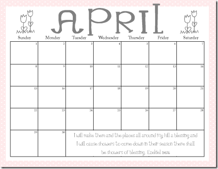 free printable april calendars | Printables | Pinterest | Free ...