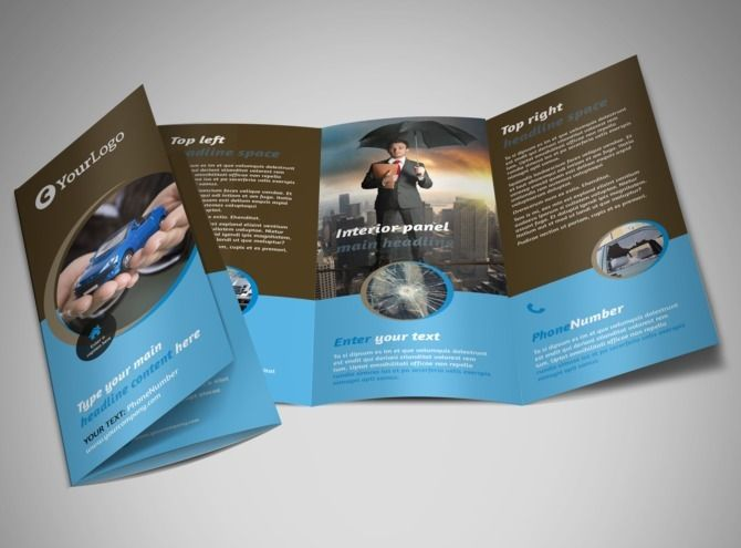 Reliableautoinsurancetrifoldbrochuretemplatejpg - Trifold brochure template
