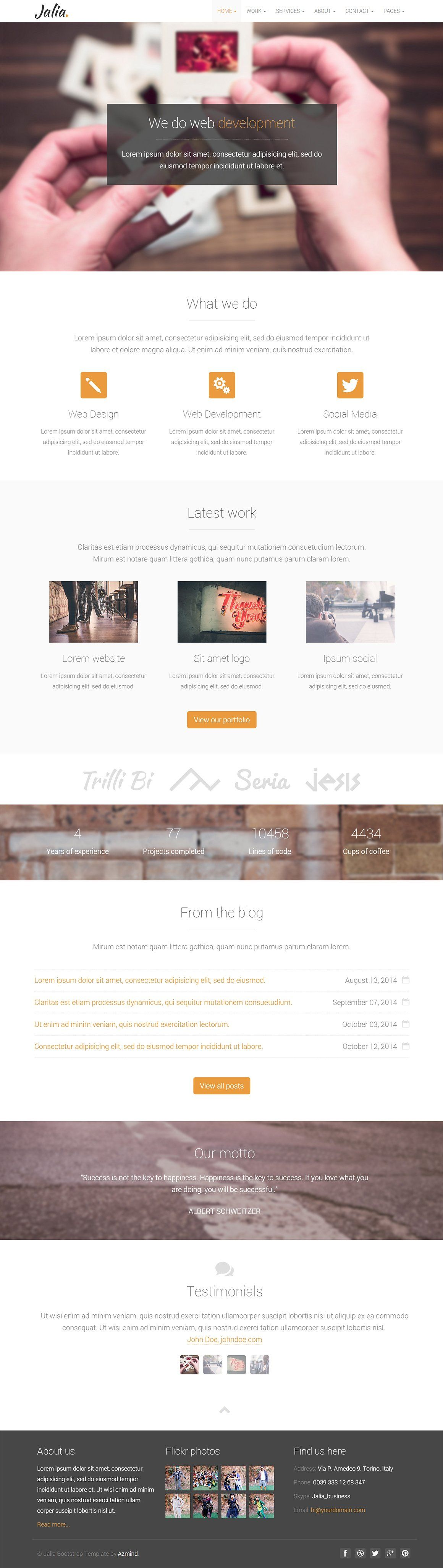 Jalia Bootstrap Business Template Business template
